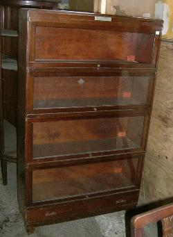 Antique Furniture Antique Mahogany Waterfall Open Bookcase Bookshelves To Adopt Advanced Technology