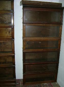 Antique Mahogany Waterfall Open Bookcase Bookshelves To Adopt Advanced Technology Antiques