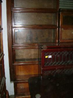 Antique Mahogany Waterfall Open Bookcase Bookshelves To Adopt Advanced Technology Bookcases Antique Furniture
