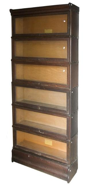 Antique Mahogany Waterfall Open Bookcase Bookshelves To Adopt Advanced Technology Bookcases