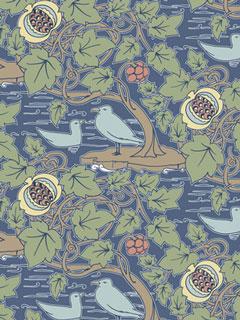Fabrics decoration arts crafts home - Bat and poppy wallpaper ...